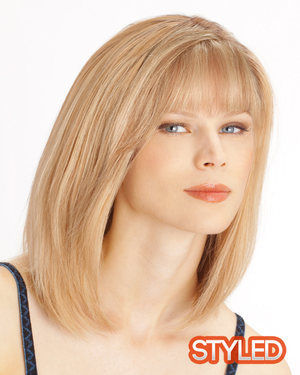 Topaz Monofilament Human Hair Wig by Louis Ferre