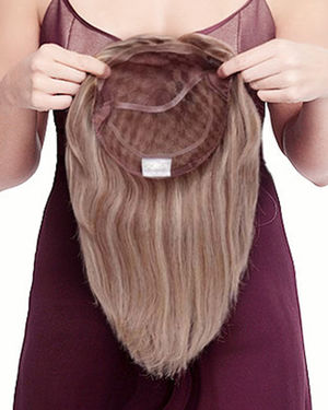 Toppiece 5001 Half Monofilament Human Hair Wig by Louis Ferre