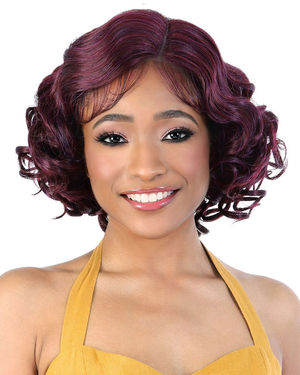 LDP-Amora Lace Front & Lace Part Synthetic Wig by Motown Tress