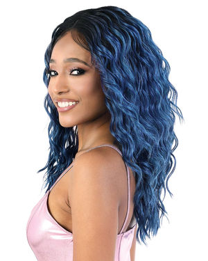 LDP-Spin18 Lace Front & Lace Part Synthetic Wig by Motown Tress