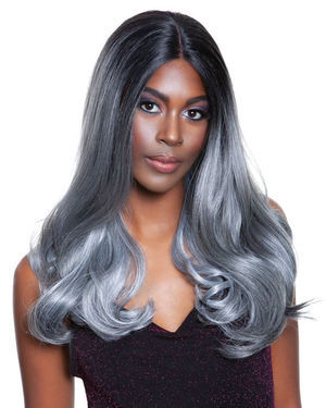 Janin Lace Front & Lace Part Synthetic Wig by Red Carpet