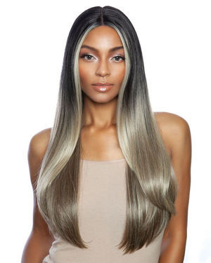 Cari Lace Front & Lace Part Synthetic Wig by Red Carpet