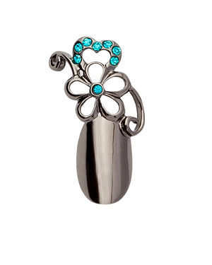 Stephen Nail Jewelry Flower (Small-Black)