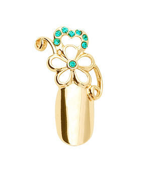 Stephen Nail Jewelry Flower (Small-Gold)