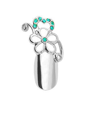 Stephen Nail Jewelry Flower (Small-Silver)