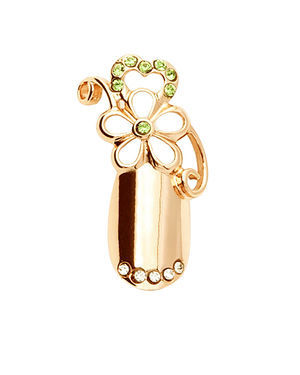 Stephen Nail Jewelry Flower (Medium-Gold)
