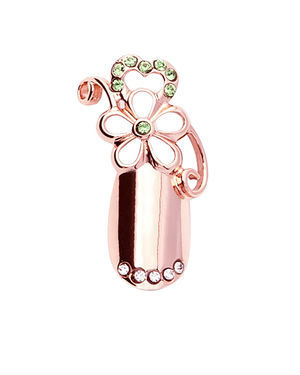 Stephen Nail Jewelry Flower (Medium-Pink Gold)