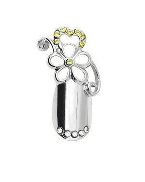 Stephen Nail Jewelry Flower (Medium-Silver)