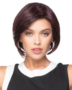 Angled Bob Lace Front & Monofilament Part Synthetic Wig by TressAllure