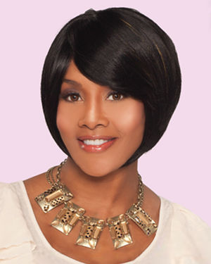 Snap Bang Crown Human Hair Wiglet by Vivica Fox