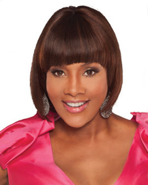 Snap Bang Front Human Hair Wiglet by Vivica Fox