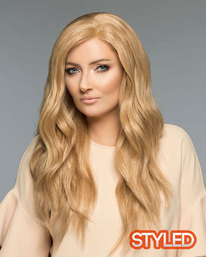 Amber (Exclusive) Monofilament Human Hair Wig by Wig Pro