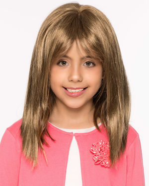 Alyssa V-Mono Children's Lace Front & Monofilament Synthetic Wig by Wig Pro
