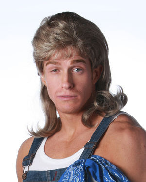 Mullet Costume Wig by Wicked Wigs