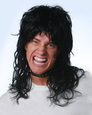 Rock Hero Costume Wig by Wicked Wigs