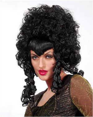Vampira Black Halloween Wig by Wicked Wigs