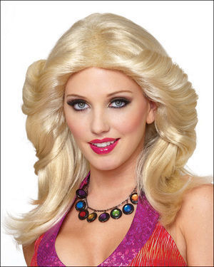 Feathered 1970s Female Costume Wig by Franco