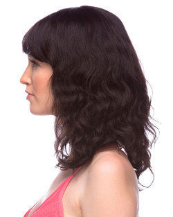 H Sonnet Remy Human Hair Wig by Elegante (Natural Black)